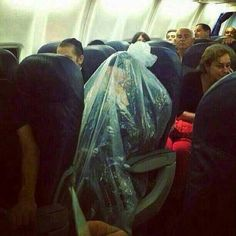 Hold your breathe, why? plastic bag or poncho