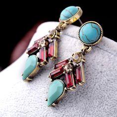 Mixed-shape Drop Earrings