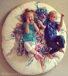 Giant bird nest pretend play. This would be so fun to do as part of a bird preschool or homeschool unit!