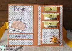 Buongiorno a tutte le amiche di SDN!! Oggi vi voglio mostrare un progetto che ho scovato sul web: una card porta bustine da tè Per re...