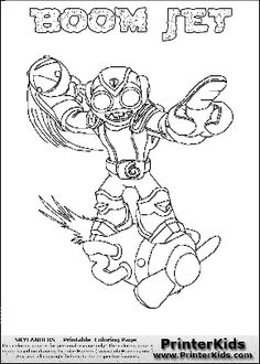 Skylanders giants coloring pages drobot wow pow ~ 38 Best Grant skylander party images | Skylanders ...