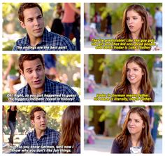 pitch perfect Jesse and Beca are awesome! Now Quotes, Movie Quotes, Pitch Perfect, Nerd, Book Tv, About Time Movie, I Love To Laugh, Lol, Great Movies