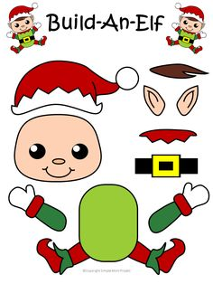 Easy Printable Christmas Elf Craft for Kids to Make - Simple Mom Project Click and print this easy to make elf template for kids of all ages, including preschoolers and toddlers. Give this elf as a fun Christmas card, gift . Diy Christmas Ornaments, Christmas Elf, Christmas Projects, Christmas Themes, Holiday Crafts, Santa Crafts, Christmas Cards, Christmas Arts And Crafts, Toddler Crafts