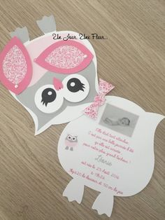 Fair part and form of chouette – Invitation 2020 Diy Invitations, Birthday Invitations, Birthday Cards, Fall Crafts, Diy And Crafts, Crafts For Kids, Diy Paper, Paper Crafts, Baby Owls