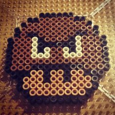Goomba mushroom perler beads by the_nerdy_girl_crafter