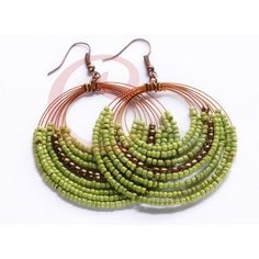 GREEN COPPER BEADS EARRINGS