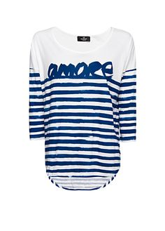 MANGO - Camiseta amore rayas marineras
