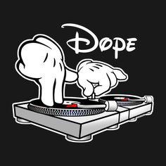 Dope - DJ dos desenhos animados Mãos