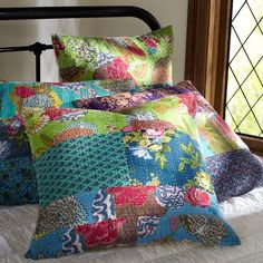Kantha Cloth Sham, Cool | PBteen