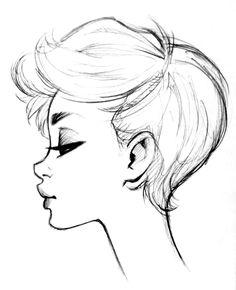 Children's Hairstyles 802203752366731968 – Cool Easy Sketch Art Drawings Best Ideas Source Girly Drawings, Art Drawings Sketches Simple, Pencil Art Drawings, Cartoon Drawings, Easy Drawings, Drawing Faces, Drawing With Pencil, Simple Face Drawing, Easy People Drawings