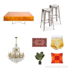 Design Mix And Match Featuring Jonathan Adler Accent Table Bistro Furniture Swarovski Ceiling Light And Low Pile Rug From October 2016 #home #decor
