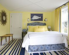 Beautiful, nautical yellows and blues- by Willey Design LLC