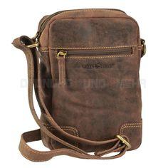 Greenburry kleine Umhängetasche Leder Messenger Bag VINTAGE Tasche