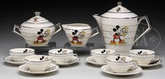 Walt Disney Mickey Mouse Tea Cup Tea Pot Set - Google Search