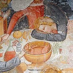 Chiesa di S. Maria Assunta, Brione (Frescos attributable to Giovanni Baronzio of Giotto's Rimini school)