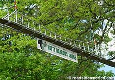 Longview, Washington.  This is the Squirrel Bridge that allows the squirrels to cross from the library and park on Olympic Way in safety.