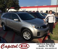 https://flic.kr/p/DundjT | Happy Anniversary to Evangelina on your #Kia #Sorento from Brian Dean at Capitol Kia! | deliverymaxx.com/DealerReviews.aspx?DealerCode=RXQC