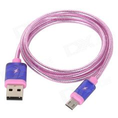 Color: Pink-Purple; Brand: N/A; Model: V8; Material: PVC + copper; Quantity: 1 Set; Compatible Models: Universal; Cable Length: 100 cm; Connector: Micro USB/ USB2.0; Packing List: 1 x Cable (100cm); http://j.mp/1BtLdAm
