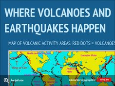 Where volcanoes and earthquakes happen - project by Weston Howell