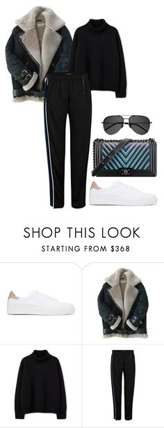 """Untitled #3257"" by moxfordf ❤ liked on Polyvore featuring Anya Hindmarch, Acne Studios, Chanel and Yves Saint Laurent"