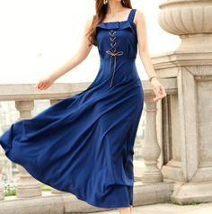 Navy Blue Silk Chiffon dress women dress fashion dress Long dress--WD034. $73.99, via Etsy.