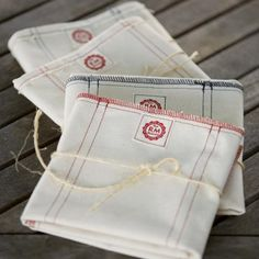Raw Materials company Napkin 20 in., Made in Seattle, WA. All USA sourced. Serged edges are optional Provence Style, Kitchen Linens, Linen Napkins, Room Accessories, Material Design, Dish Towels, Table Linens, Home Textile, Fabric Crafts