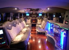 Hummer Limo Interior...I'd love a ride to prom in this!