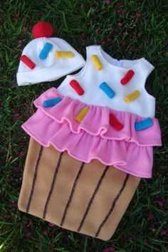Baby Cupcake with Sprinkles costume. Kids 'party dress. Carnevale Halloween