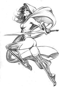 comic art keu cha   Gamora concept sketch by Keucha