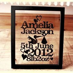 Personalised New Baby Paper Cut                              …                                                                                                                                                                                 More
