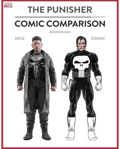 """5,443 Likes, 65 Comments - • Accurate.MCU • mcu fanpage (@accurate.mcu) on Instagram: """"• THE PUNISHER - COMIC COMPARISON • Made this comparison over a week ago so it would have been a…"""""""