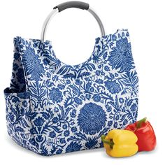 """Stylish Stay-Cool Tote Bag. Once you have an insulated tote bag, you'll never look at regular bags the same way! It's re-usable and keeps groceries, salads and desserts cool for leisurely, worry-free transport. Measures 16"""" wide x 14 1/2"""" high x 6"""""""