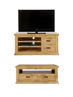 SAVE money with this amazing deal that gives you the Clifton 2 Drawer Coffee Table plus a 2 Drawer Corner TV Unit for a far lower price than if you purchased them individually. Specially selected from our best-selling Clifton collection, this great value furniture set is the affordable way to achieve the sought-after shabby chic appearance.Corner TV unitSuitable for televisions up to 50 inches, its two shelves offer space for your DVD player and other peripherals, while a pair of drawerslet…
