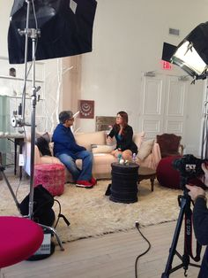 #Deepakchopra & #HeatherBerlin discuss consciousness and the brain on the #ONEWORLD set at #ABCHome