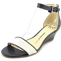 Isaac Mizrahi Katie Women US 65 W Black Wedge Sandal -- View the item in details by clicking the image