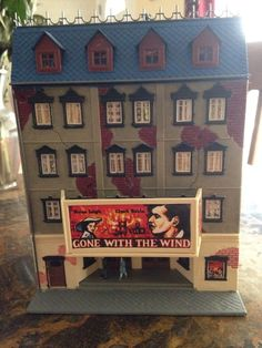 Ho scale model power vintage movie theater 5 story building #ModelPower