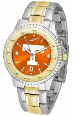 Tennessee Volunteers UT NCAA Mens Two-Tone Anochrome Watch SunTime. $100.88. Links Make Watch Adjustable. Two-Tone Stainless Steel. Men. AnoChrome Dial Enhances Team Logo And Overall Look. Officially Licensed Tennessee Vols Men's Stainless Steel and Gold Tone Watch. Save 15% Off!
