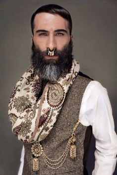 Paisley beard