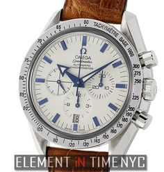 Element In Time | #Omega #Speedmaster Broad Arrow Chronograph Steel White Dial 42mm 2002