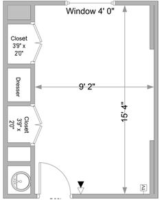 Here Is A Sample Floor Plan Of A Typical Warde Hall Room