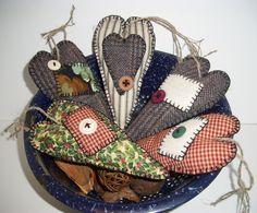 Primitive Christmas Ornaments   EtsyGiftsSale Handmade Primitive Christmas…