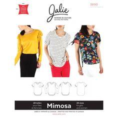 Get Jalie 3890 Mimosa Scoopneck T-Shirts Pattern Peplum Top Pattern, T Shirt Sewing Pattern, Shirt Dress Pattern, Easy Sewing Patterns, Simplicity Sewing Patterns, Sewing Ideas, Sewing Projects, Crafty Projects, Knit Patterns