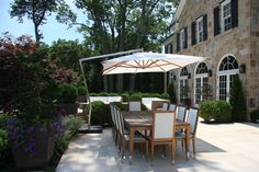 Ultimate setting for dining al fresco, designed by Conte & Conte, LLC