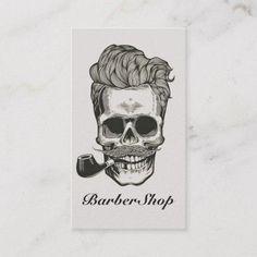 Shop Vintage Barber Shop Skull Scissors Business Card created by PinkSalt_Paperie. Retro Design, Vintage Designs, Print Design, Graphic Design, Print Templates, Card Templates, Vintage Business Cards, Barber Shop, Business Card Design