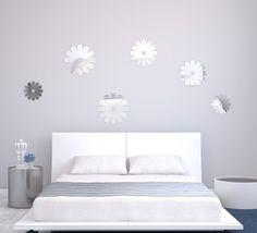 Set dekoračných nalepovacích zrkadiel na stenu Bed, Furniture, Home Decor, Decoration Home, Stream Bed, Room Decor, Home Furnishings, Beds, Home Interior Design