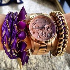 arm candy with a royal purple edge