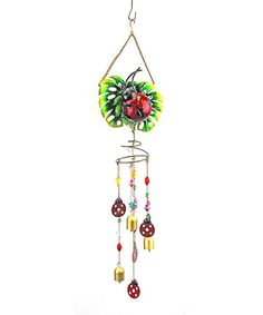 Loving this Ladybug Jewel Wind Chime on #zulily! #zulilyfinds