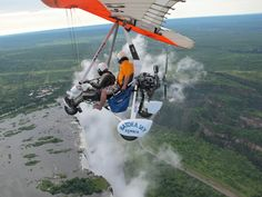 Flying above Victoria Falls in Micro Flight