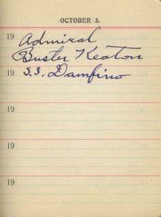 buster keaton autograph - Google Search