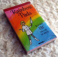Vintage Rainbow Paper Notepad